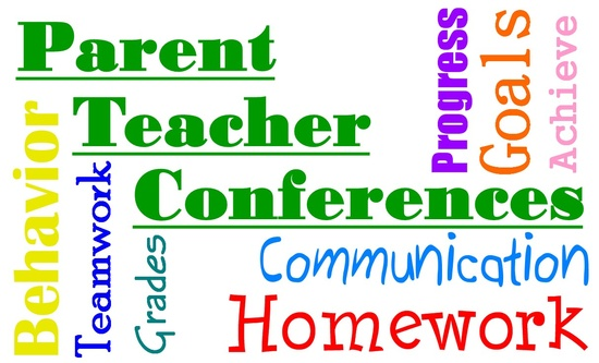 Parent teacher conferences clipart.